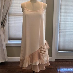 NWOT Pretty Angel Asymmetrical Ruffle Hem Dress